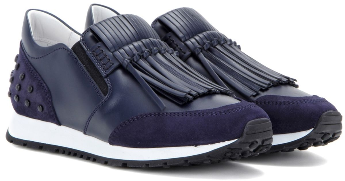 Tod's Sportivo Frangia Leather Sneakers