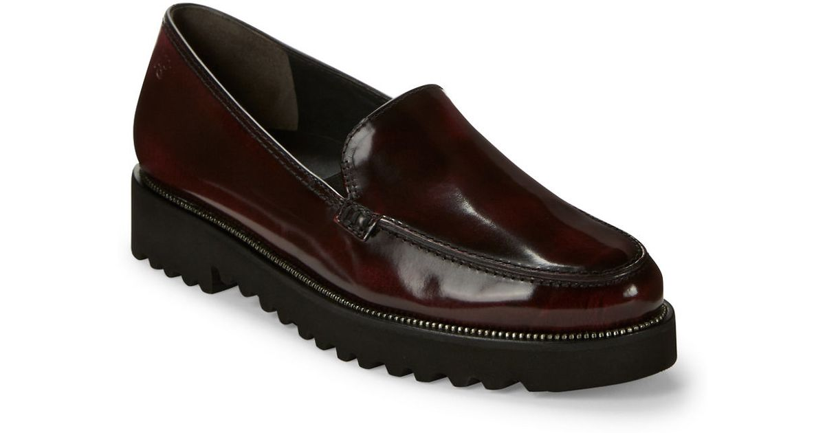 lyst paul green ariana patent leather loafers in purple. Black Bedroom Furniture Sets. Home Design Ideas