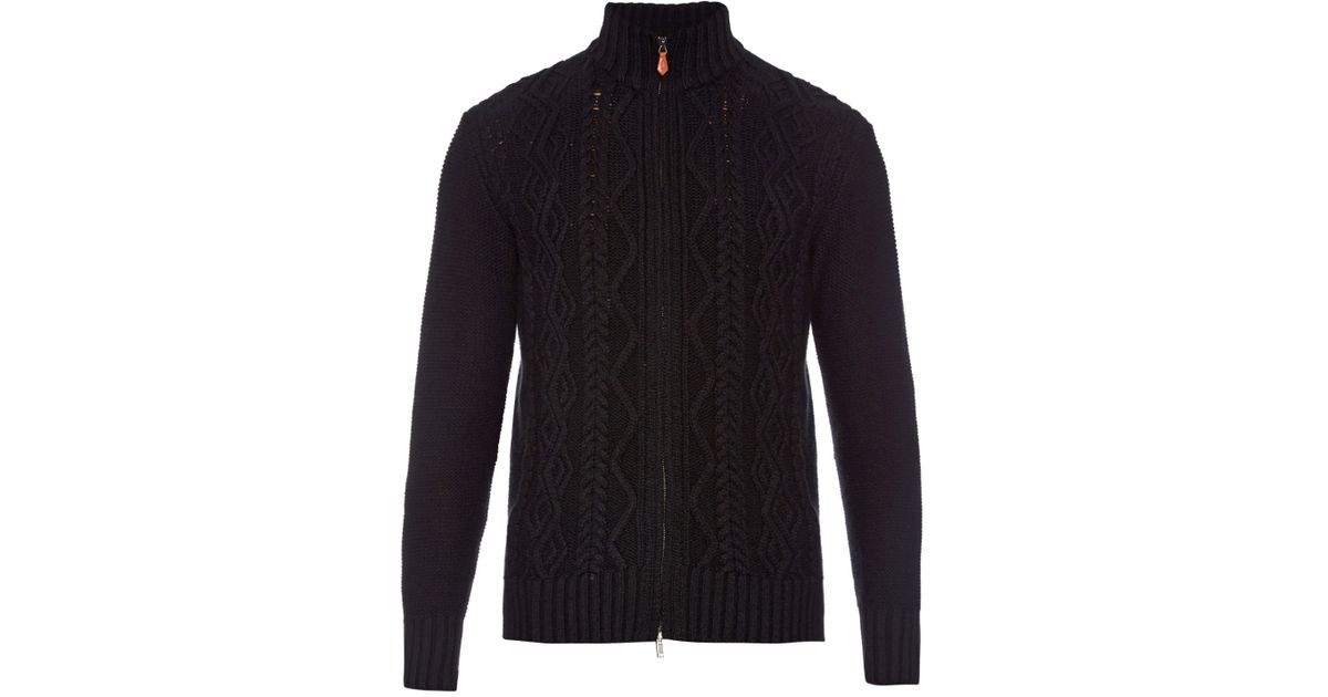 Inis meáin Aran-knit Merino-wool Sweater in Black for Men ...