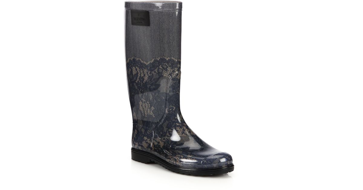 valentino lace boots