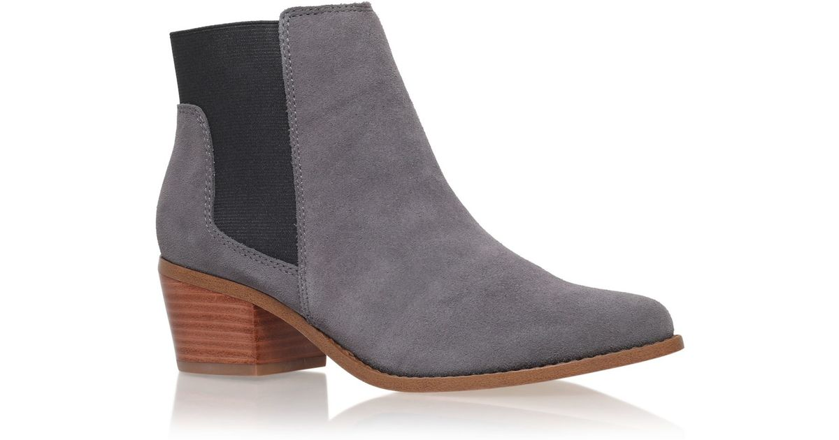 miss kg spider low block heel ankle boots in gray lyst