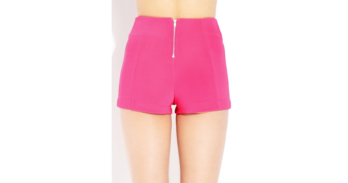 763a1e7706 Forever 21 Bold High-waisted Shorts in Pink - Lyst