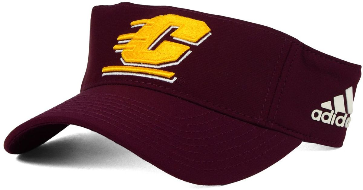 cb03c7101506a adidas Central Michigan Chippewas Coaches Visor in Purple for Men - Lyst