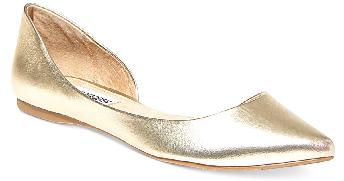 fd0ca0e68f1 Steve Madden Metallic Women'S Elusion D'Orsay Flats