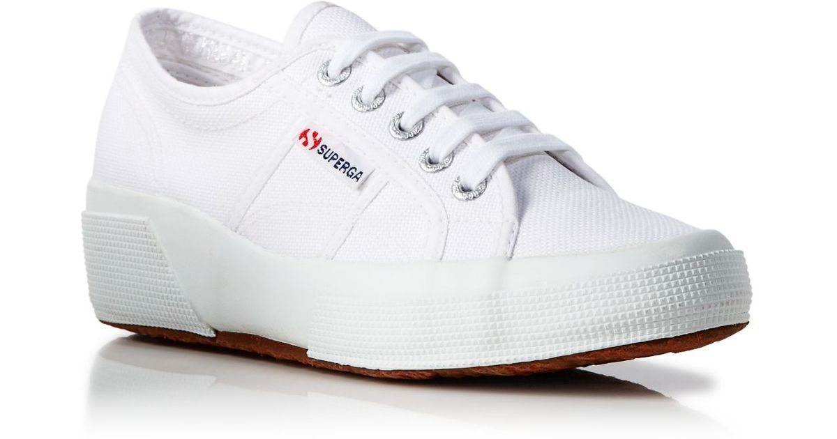 Superga Lace Up Sneakers - Hidden Wedge