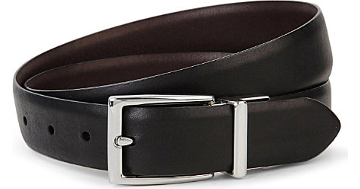 6fa5caaf0801b Ralph Lauren Reversible Leather Belt - For Men in Brown for Men - Lyst