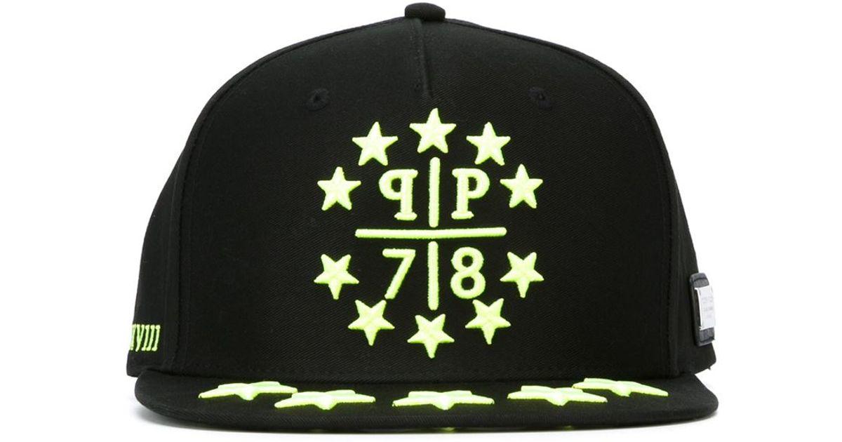 philipp plein 39 starlight 39 baseball cap in black for men lyst. Black Bedroom Furniture Sets. Home Design Ideas