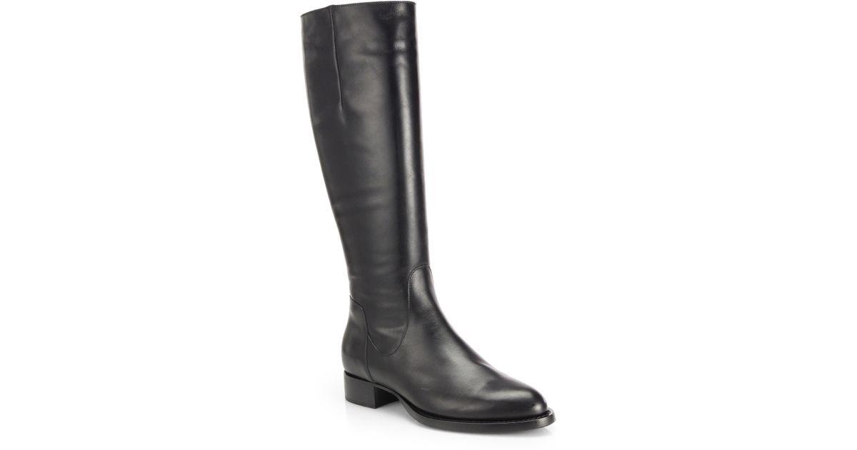 f3dd4f76da2 Aquatalia Black Gabor Knee-High Leather Riding Boots