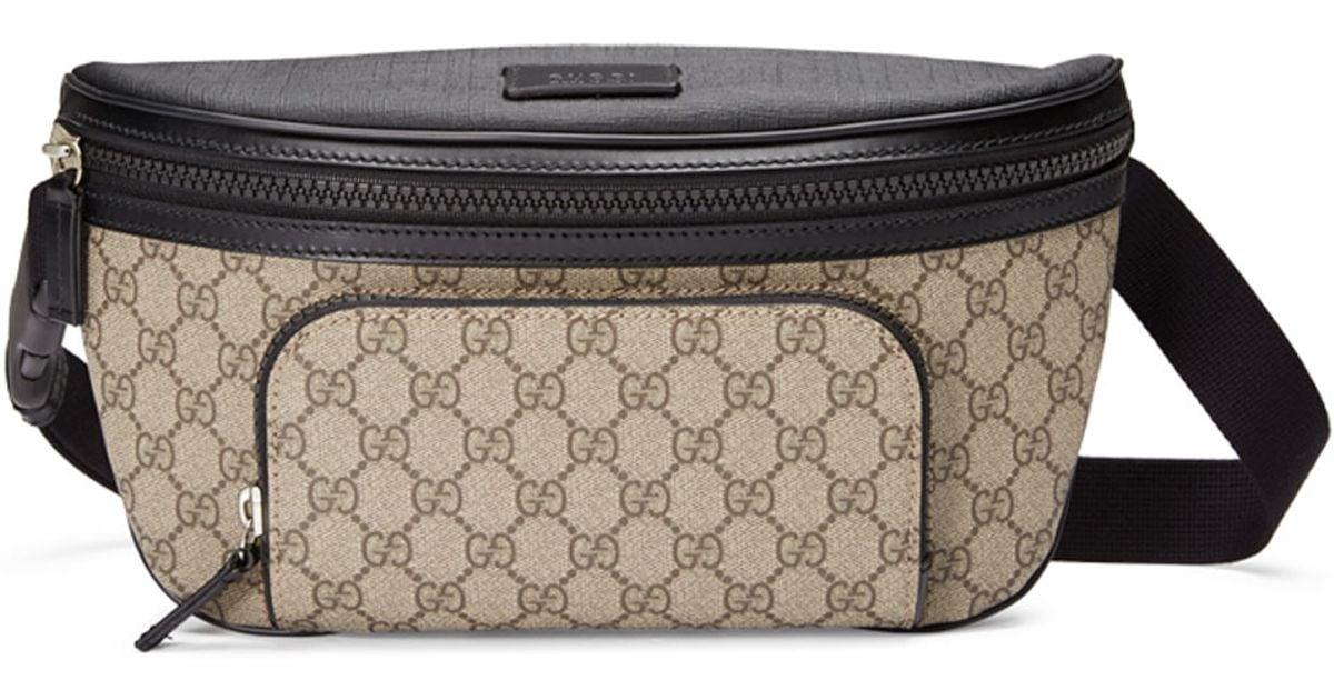 f345b42e47f Lyst - Gucci Eden Gg Supreme Belt Bag in Natural