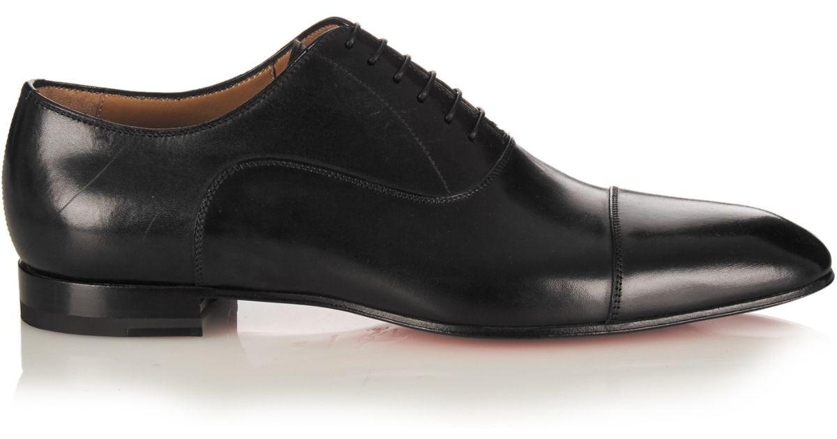 8fd73d52c4b Christian Louboutin Black Greggo Leather Lace-up Shoes for men