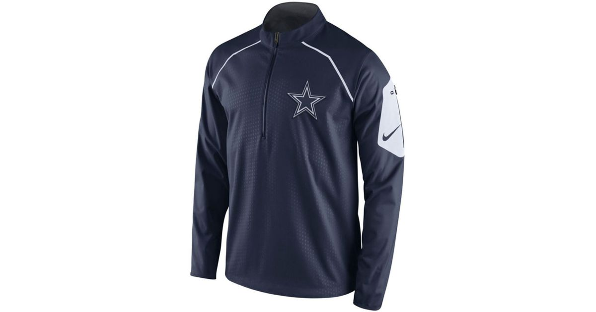 release date 50654 afb8c Nike Blue Men's Dallas Cowboys Alpha Fly Rush Quarter-zip Jacket for men