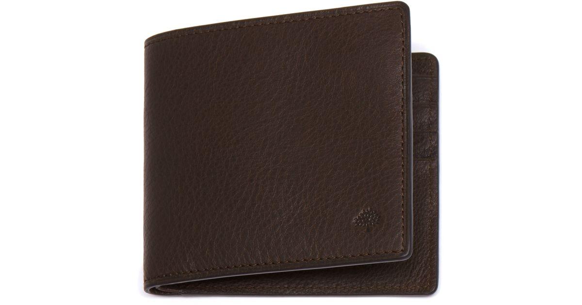 dfe57da88a1 Mulberry Slim 6 Card Wallet in Brown for Men - Lyst