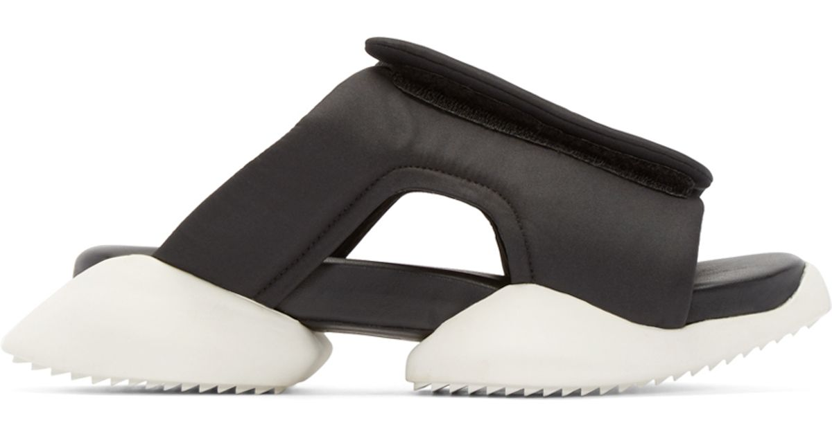 4803f6d08c58 Rick Owens Black   White Adidas By Clog Sandals in Black - Lyst