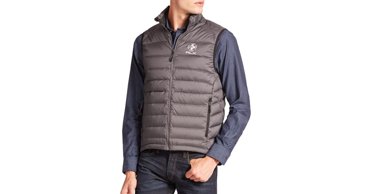 b94a08059 Polo Ralph Lauren Gray Rlx Global Explorer Down Vest for men
