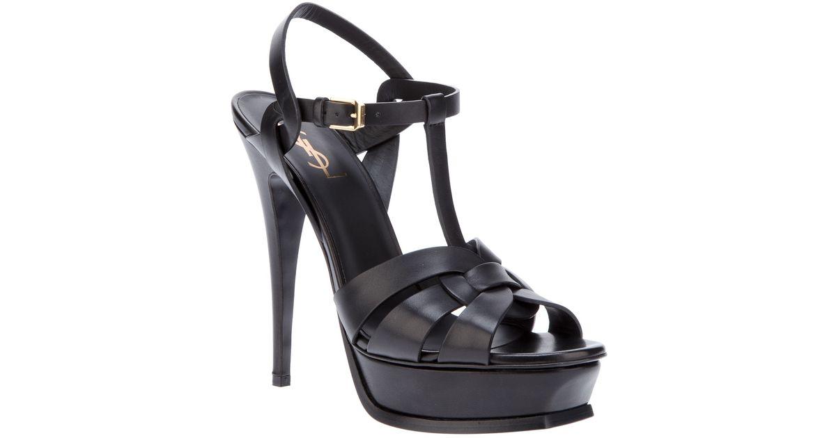 9446fa25ae Saint Laurent Black 'Classic Tribute 105' Sandals