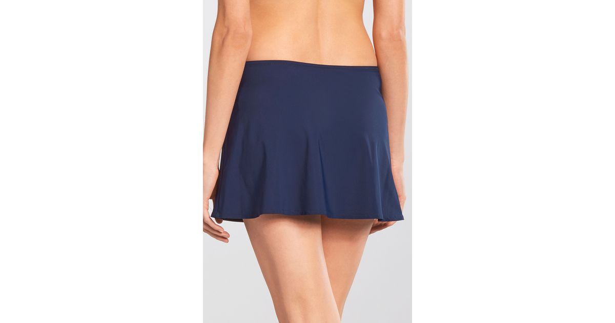 karla colletto basic a line skirt in blue lyst