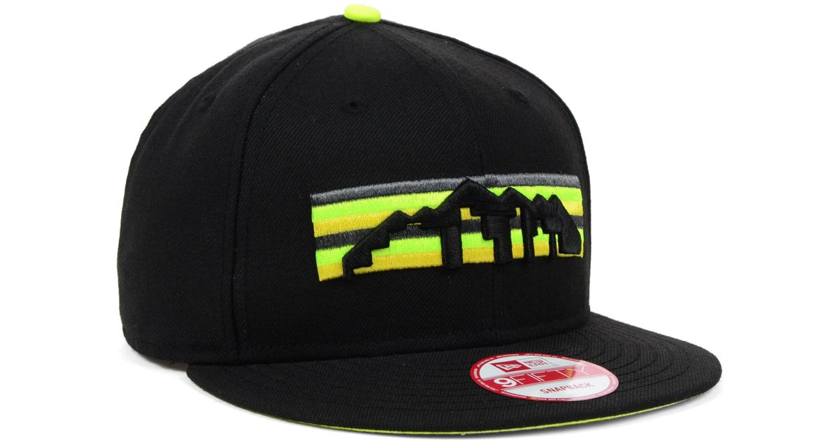 check out quality design latest KTZ Denver Nuggets Hardwood Classics Neon Time 9fifty Snapback Cap ...