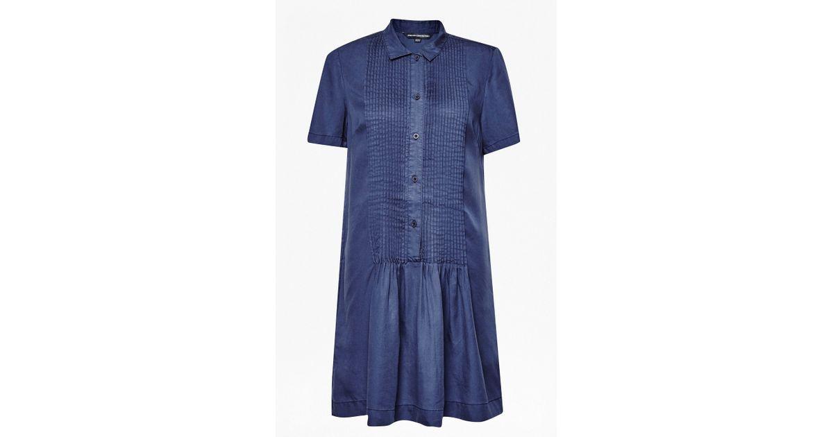Cobalt blue pleated dress