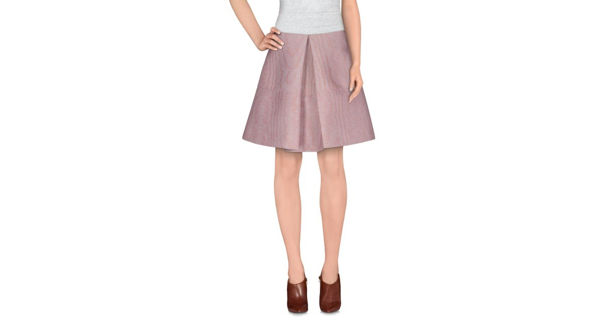vivetta knee length skirt in pink lyst