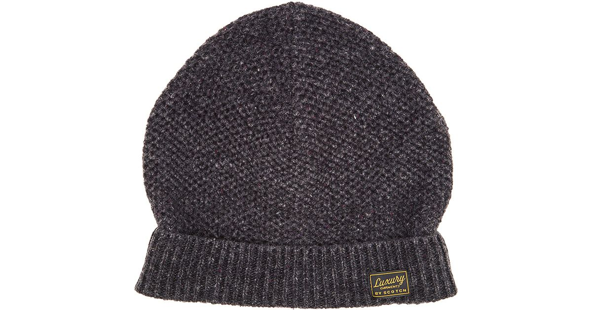 b58a1e5170d1d Scotch   Soda Beanie In Neps Melange Quality in Gray for Men - Lyst