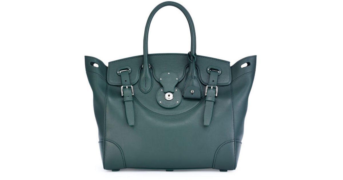 813fb127d26 ... order lyst ralph lauren soft ricky bag in green eb937 96115