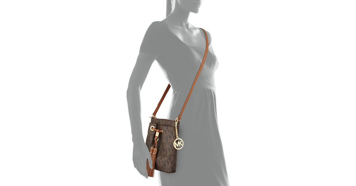 76edb915b8 Lyst - MICHAEL Michael Kors Camden Logo Crossbody Bag in Brown