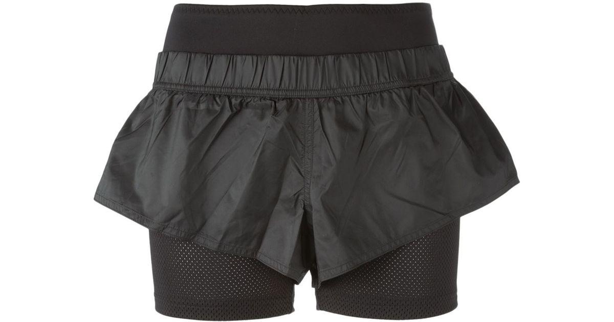 Adidas da stella mccartney strati i pantaloncini da corsa in nero lyst