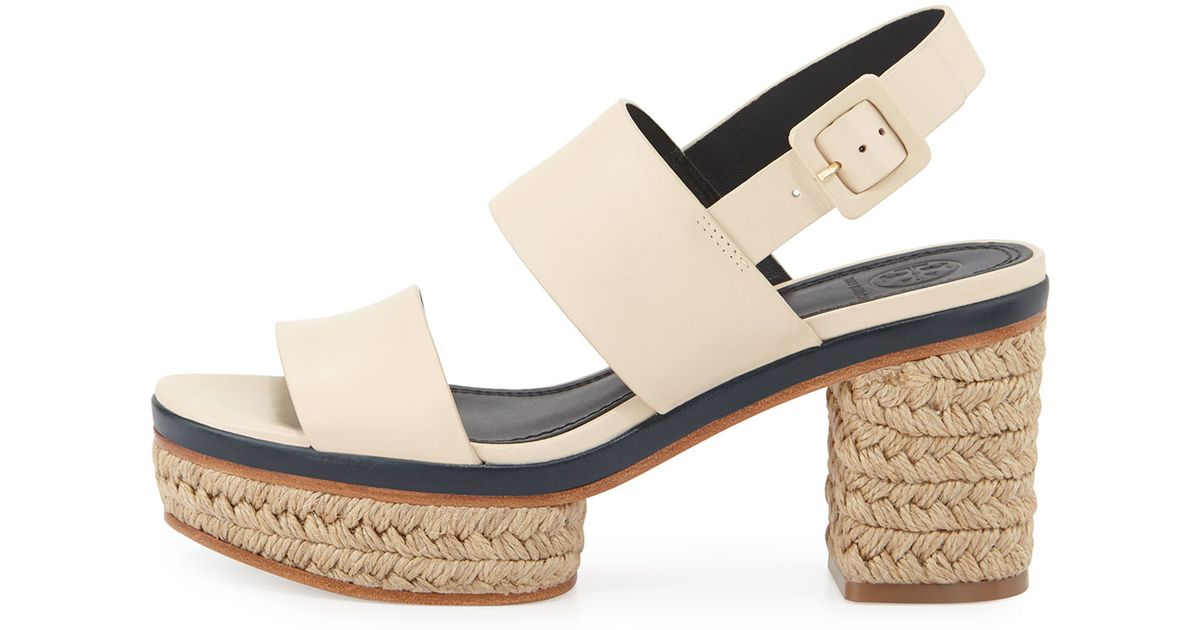 f5c5ab17a64 Tory Burch Natural Solana Block-heel Espadrille Sandal