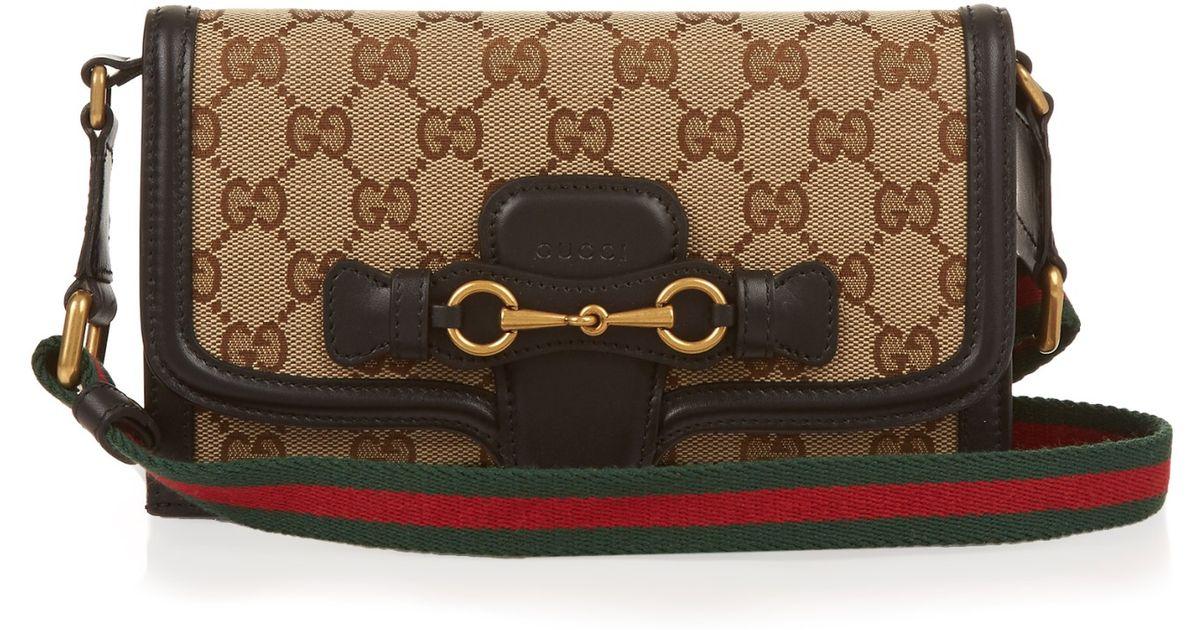 9de3dd0fd0e Lyst - Gucci Lady Web Cross-Body Bag in Black