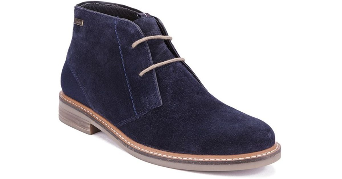 barbour s readhead suede chukka boots in blue for