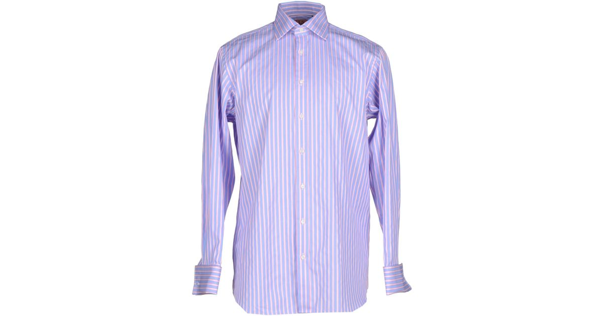 Lyst Thomas Pink Shirt In Purple For Men