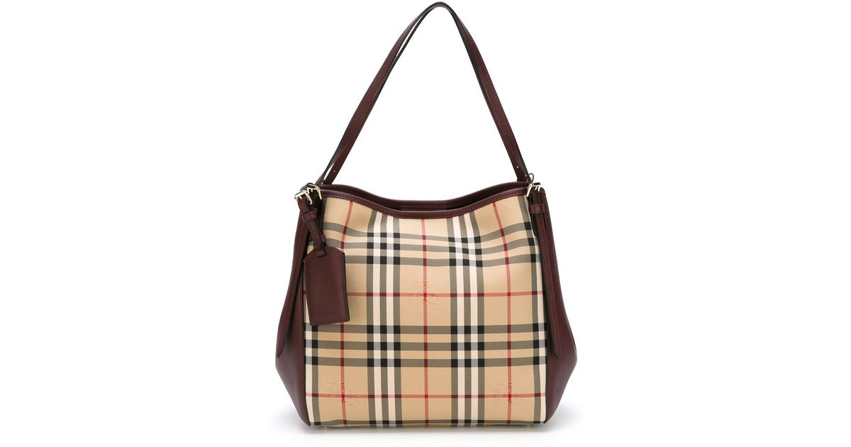 Medium plastic shopper with vintage check pouch - Nude & Neutrals Burberry Buy Newest Clearance Cheapest Dwzb4CIe