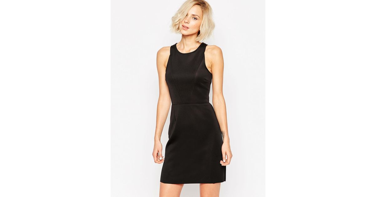 Lyst Selected Classic Sleeveless Black Shift Dress In Black