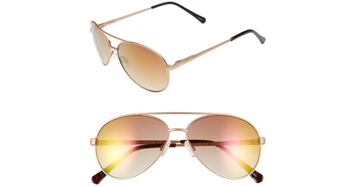 b387bc0c9 Lyst - Vince Camuto 60mm Aviator Sunglasses in Pink
