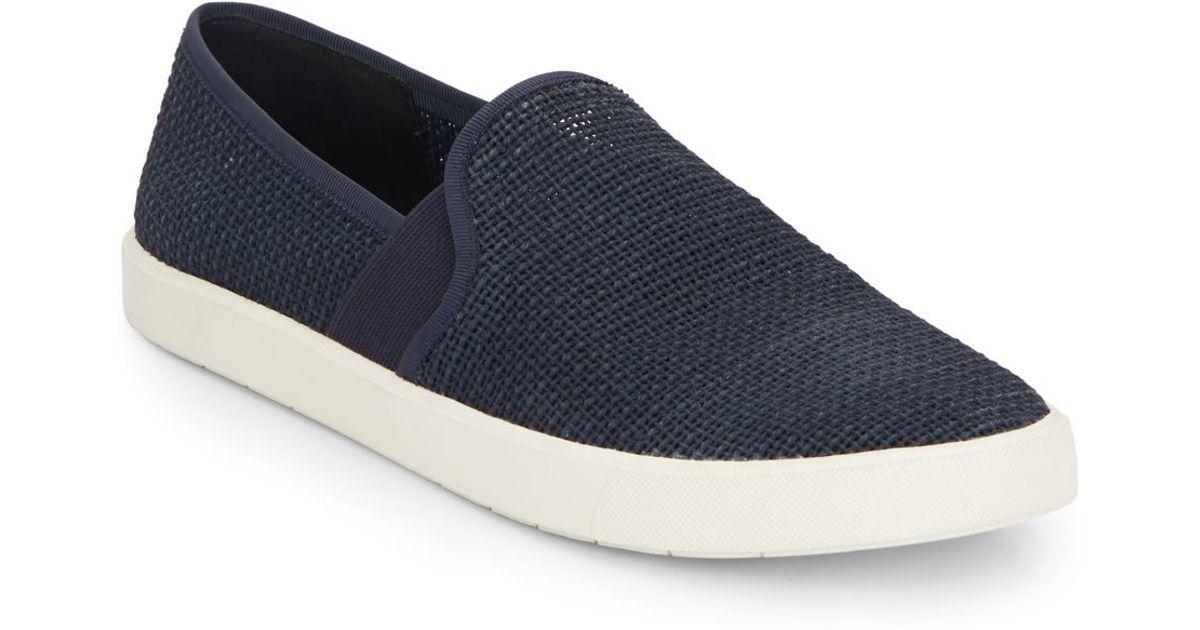 Vince Preston Slip On Sneakers In Blue Lyst