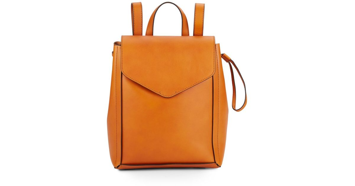 c95ff6c7fd16 Loeffler Randall Mini Leather Backpack in Orange - Lyst