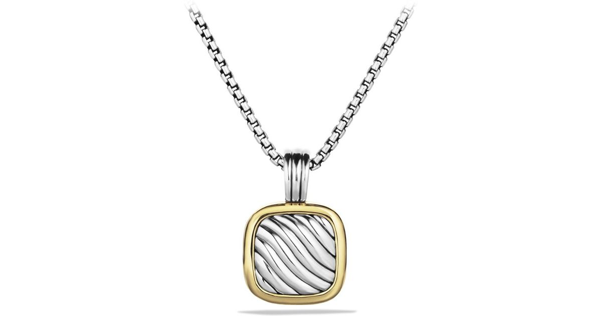 Fabulous Lyst - David Yurman Sculpted Cable Square Locket with Gold in Metallic QU09