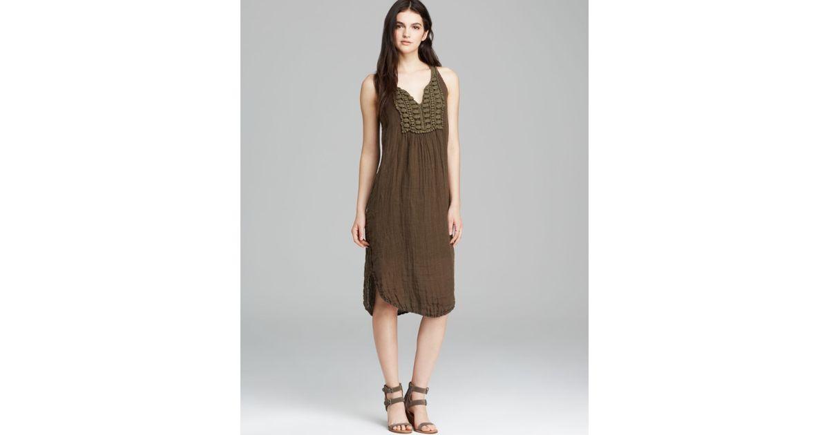 b1f454cf6aa Lyst - Michael Stars Dress - Cossette Linen in Brown