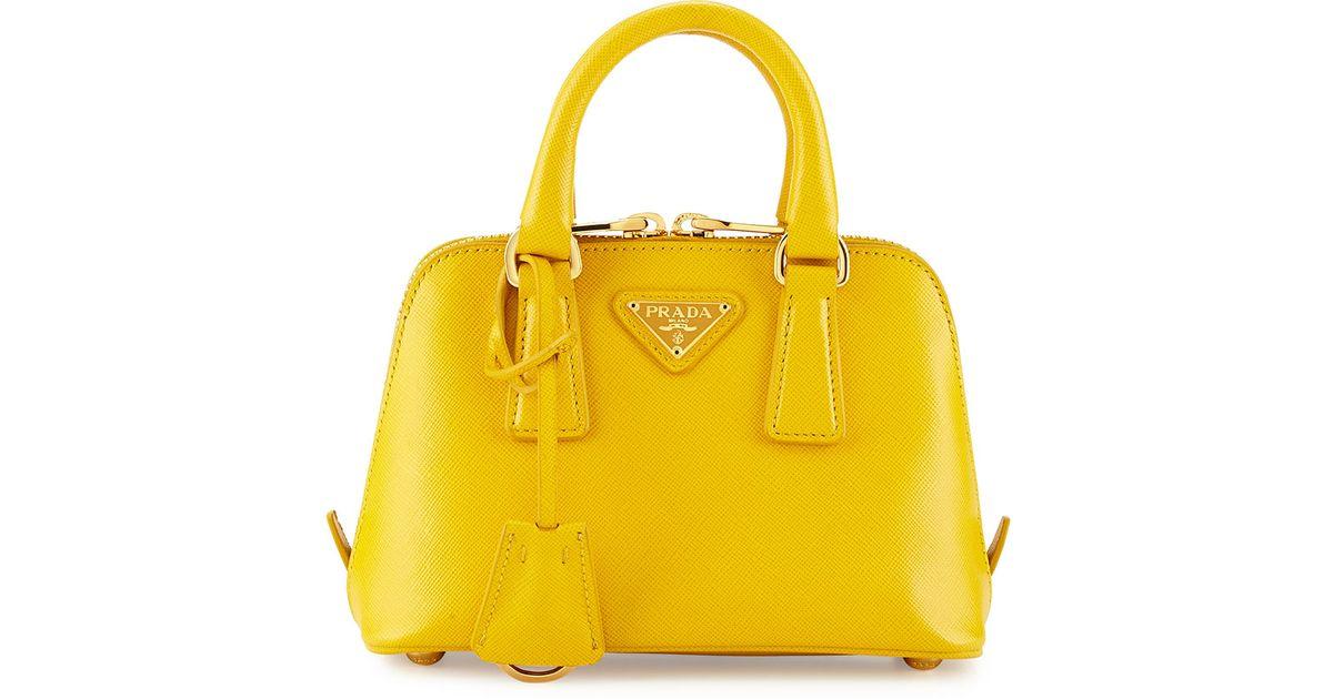 b1b15dc961308e ... order lyst prada mini saffiano promenade bag in yellow fb2fe 4c77a