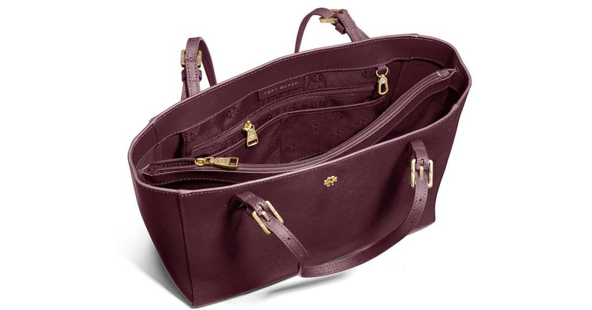 b6a3d85dc7ee89 Lyst - Tory Burch York Small Buckle Tote in Purple