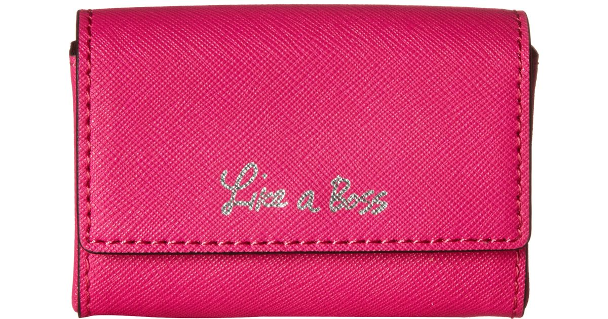 Lyst - Rebecca Minkoff Business Card Holder - Like A Boss in Pink