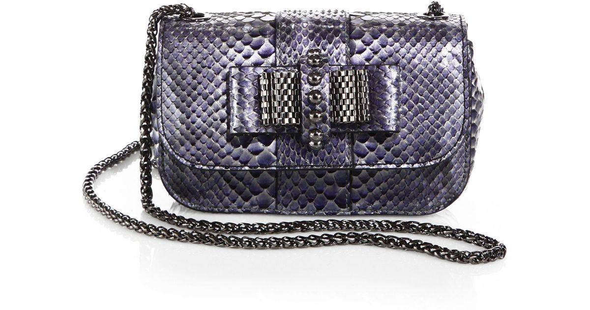 15033c75e3f Christian Louboutin Multicolor Sweety Charity Mini Python Crossbody Bag