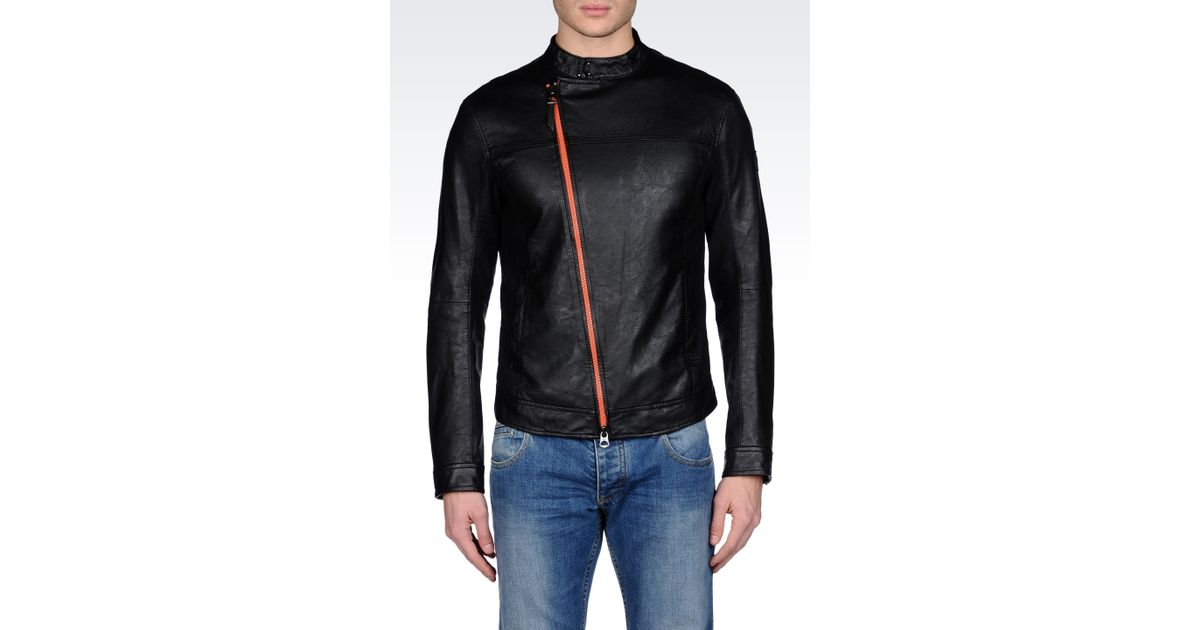 Lyst - Armani Jeans Slim Fit Blouson with Asymmetric Fastening in Black for  Men fed747ef851