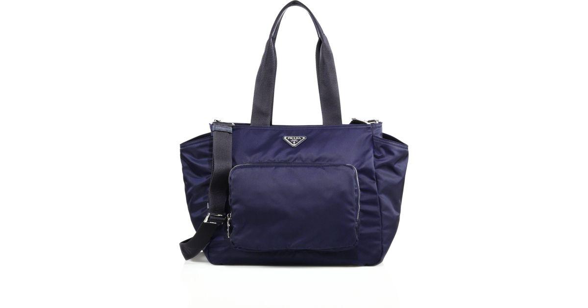 best faks - Prada Nylon Diaper Bag in Blue (baltico navy) | Lyst