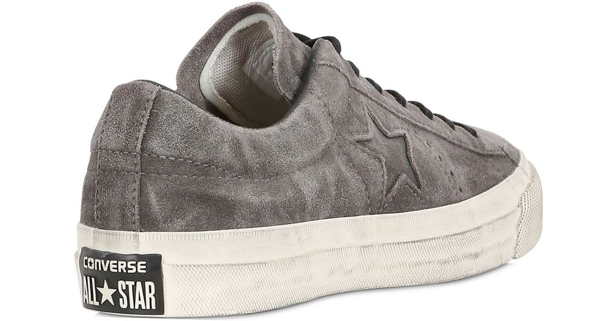 18172be7a052 ... germany converse john varvatos one star ox suede in gray for men lyst  58b8f c407e