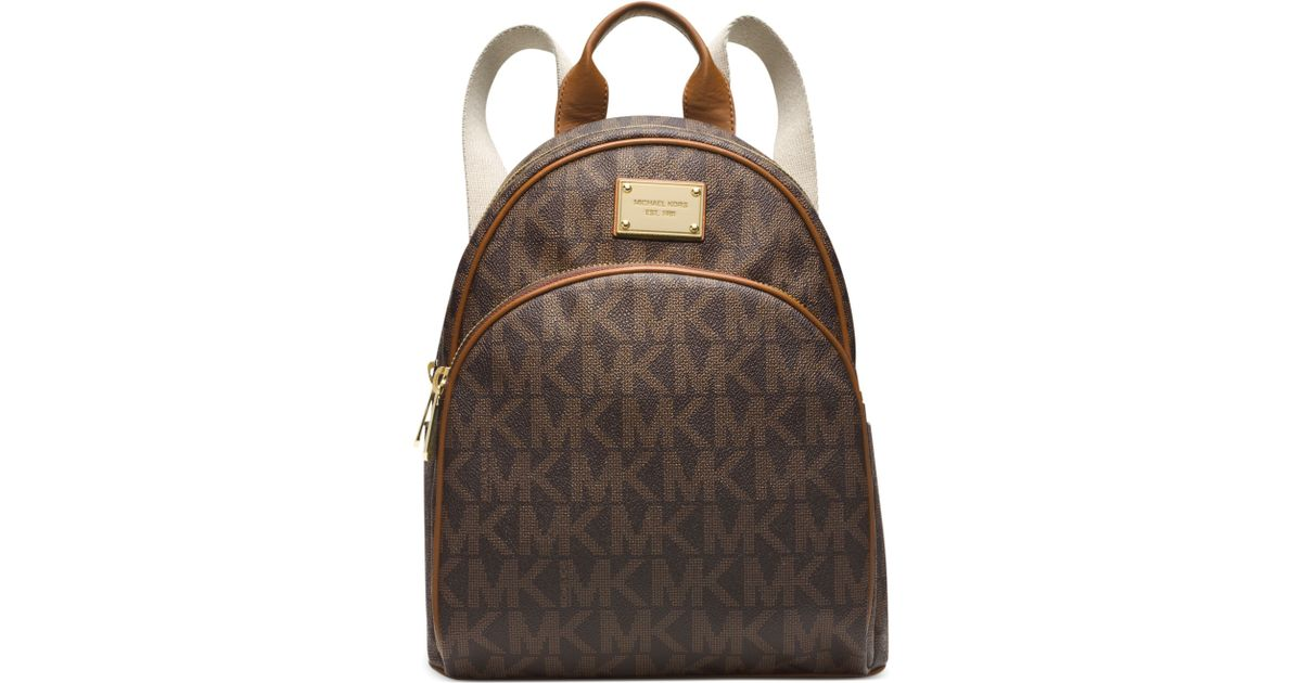 627f4a88c123 Michael Kors Michael Signature Small Backpack in Brown - Lyst