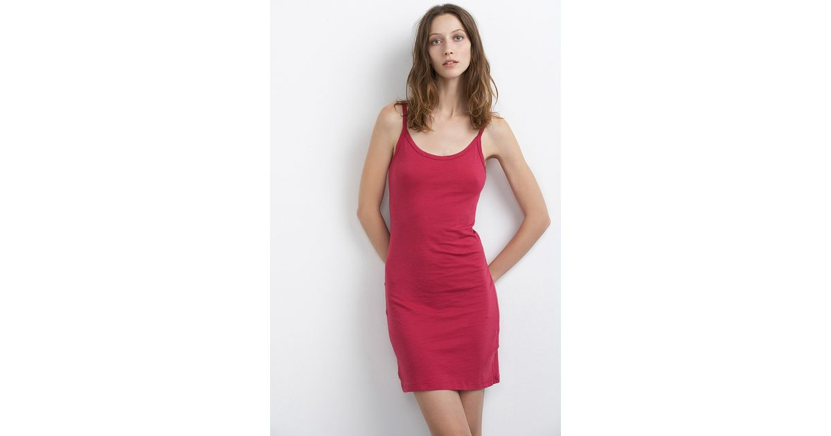 480df2301ef Lyst - Velvet By Graham   Spencer Scarlett Gauzy Whisper Slip Dress in Red  - Save 3%