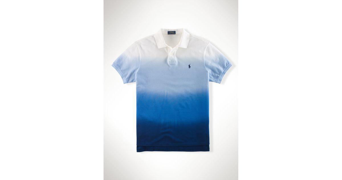 f04fd4d1 Polo Ralph Lauren Dip-dyed Ombré Polo Shirt in Blue for Men - Lyst