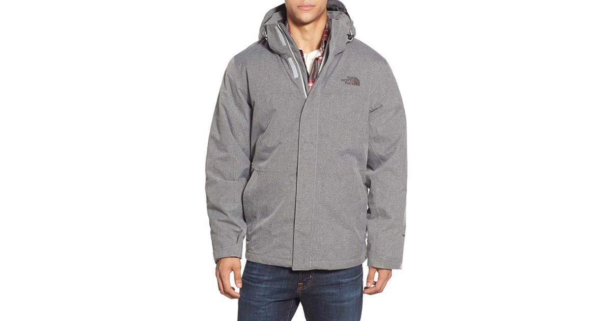 78fc1988d The North Face Gray 'inlux' Hooded Jacket for men