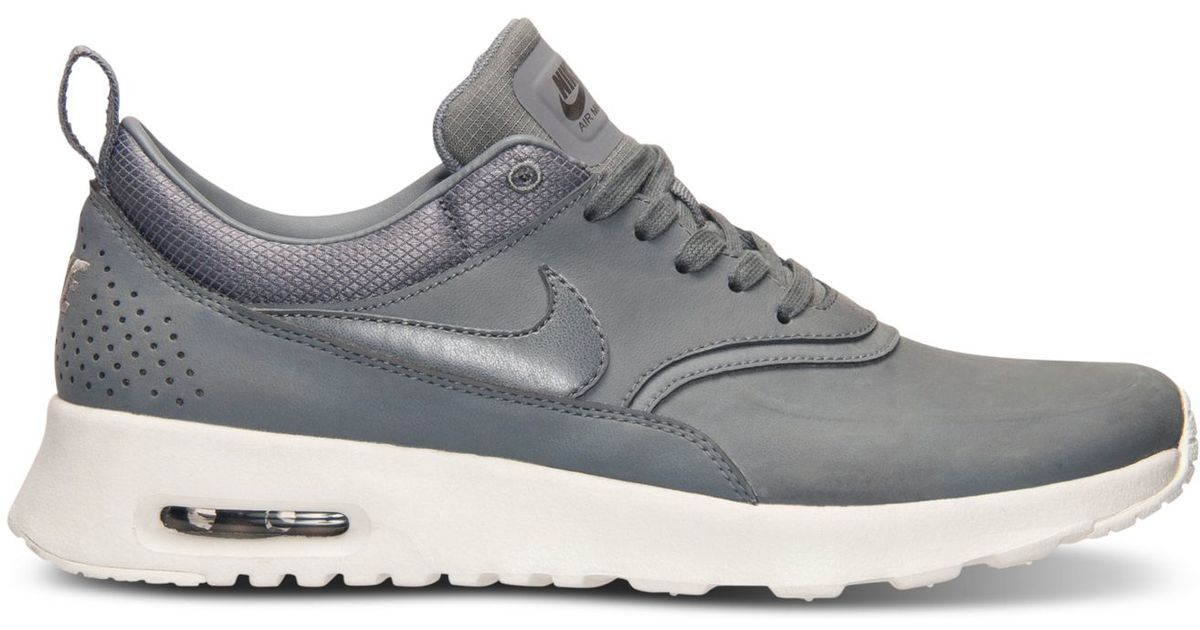 Lyst - Nike Women s Air Max Thea Premium Running Sneakers From Finish Line  in Gray efbccaef3